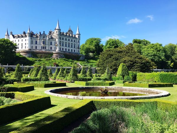 Dunrobin Castle Scotland Castle Dunrobin Castle Plant Architecture Tree Garden Nature Building Exterior Built Structure Formal Garden Sky Sunlight Growth Day Green Color Hedge Grass Building History No People