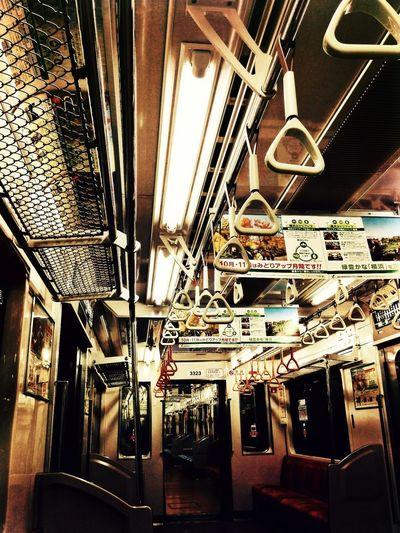 Underground Subway Empty Train 横浜市営地下鉄