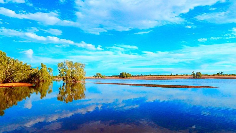 Outbackaustralia Wet Season Sky And Clouds Blue Water Blue Sky Western Australia 4wding