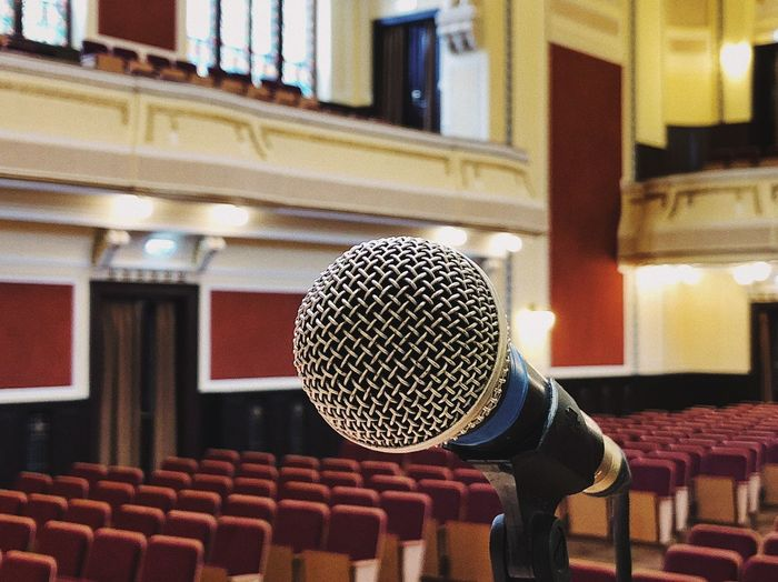 Mic 🎤... Furnitures Amphitheater Auditorium Stage - Performance Space Stage Room Philarmonic Hall Performance Singing Audio Sound Concert Hall  Hall Mic Input Device Microphone Music Arts Culture And Entertainment Indoors  Built Structure Musical Instrument Communication Technology Musical Equipment Audio Equipment Absence Building Architecture Pattern Window
