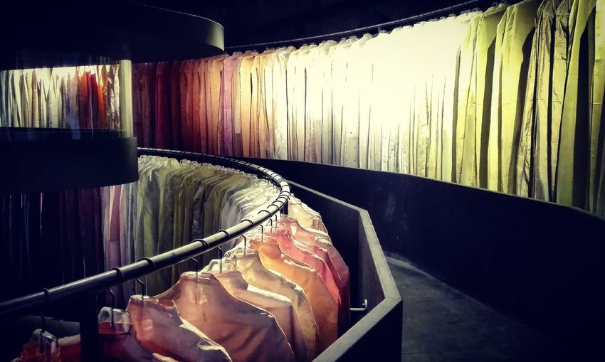 Venicebiennale Peterzumthor & Christinakimdesigner 's installation Clothes DifferentColors project for Lacma