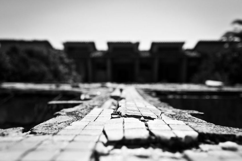 Sardegna, Funtanazza, Arbus Architecture Black & White Black And White Blackandwhite Blackandwhite Photography Building Exterior Built Structure Close-up Cracked Day Macro Mosaic Nature No People Outdoors Pattern, Texture, Shape And Form Railroad Track Sea Selective Focus Sky Surface Level