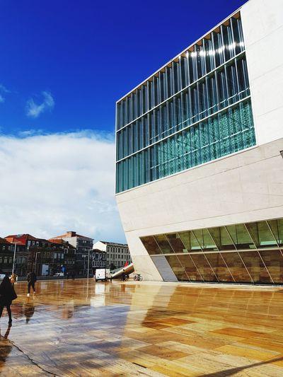 Glass Concrete Rain Porto Portugal 🇵🇹 Casa Da Música