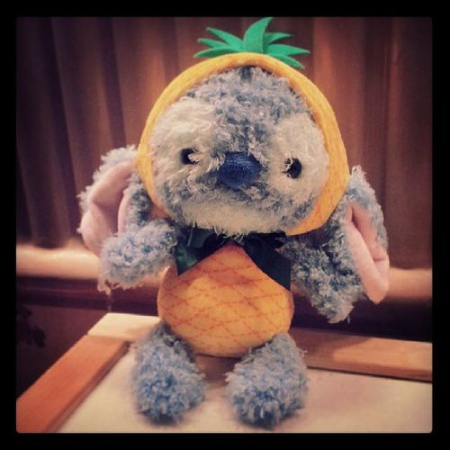Fruity! Stitch Disney Disneystitch Disneystore tokyo japan cute cuddly cuddlytoy teddy pineapple 626