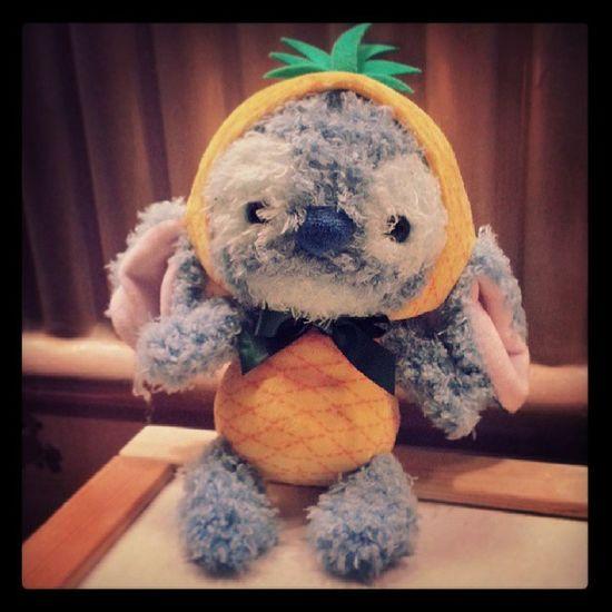 Fruity! Stitch Disney Disneystitch Disneystore tokyo japan cute cuddly cuddlytoy teddy pineapple 626