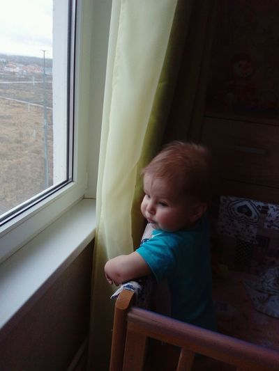 EyeEm Selects Baby Babyboy Babyphotography Window Rainy Days☔ Winter Children Children Only