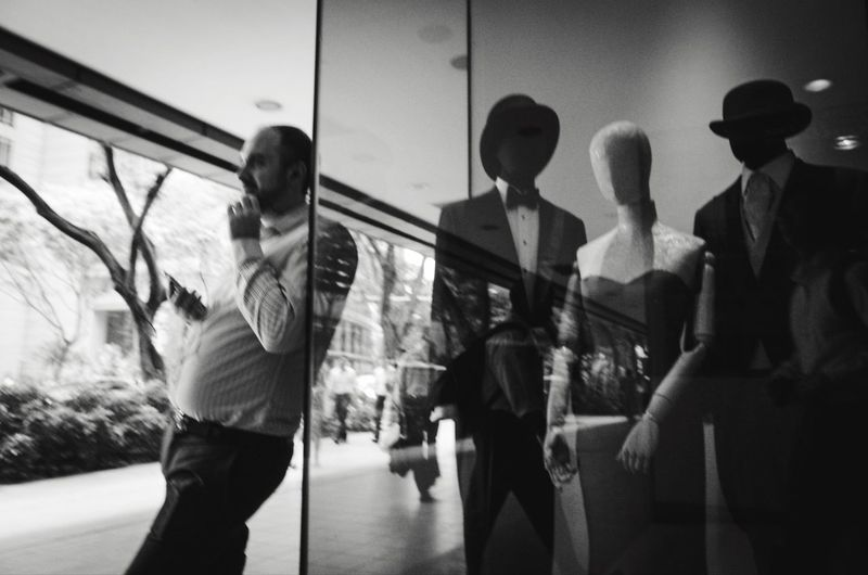 Mannequins Taking Photos Walking Around Candid Photography People Blackandwhite Q Showcase March Lines