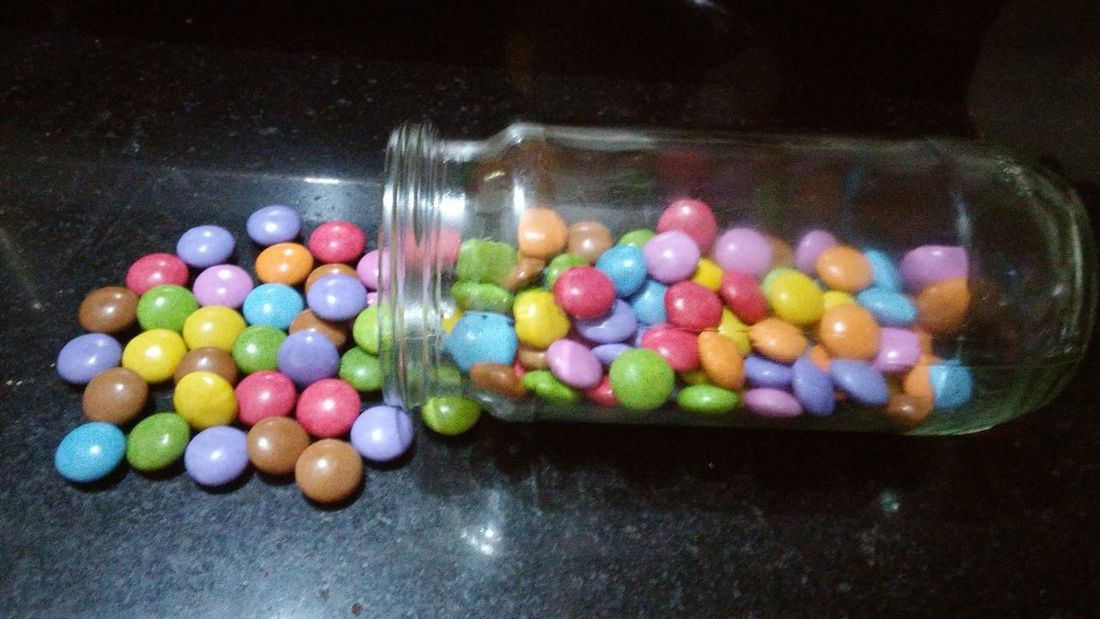 Multi Colored Sweet Food Temptation No People Unhealthy Eating Choice Large Group Of Objects Variation Indoors  Food Close-up Day Chocolate Colourful Eating Eating Gems Colourful Eating Marbles Eating Circle Easter Marbles Ready-to-eat Gems In Bottle Glass Bottle Gems