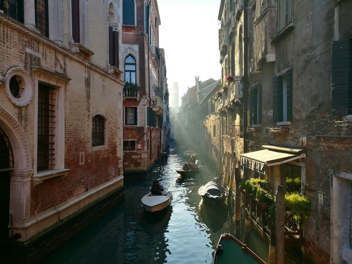 Cultures Canal Gondola - Traditional Boat Building Exterior Architecture Water City Travel Destinations Nautical Vessel No People Outdoors Sky Day Nature Venice Perfection Of Nature Italy Italia Instadaily Illuminated Postcard Fresh On Market 2017