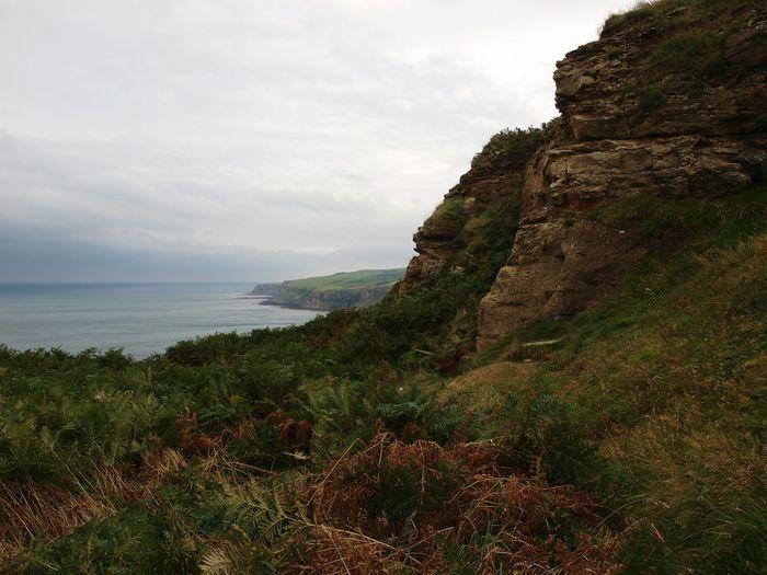 Yorkshire Coast Against Cloudy Sky