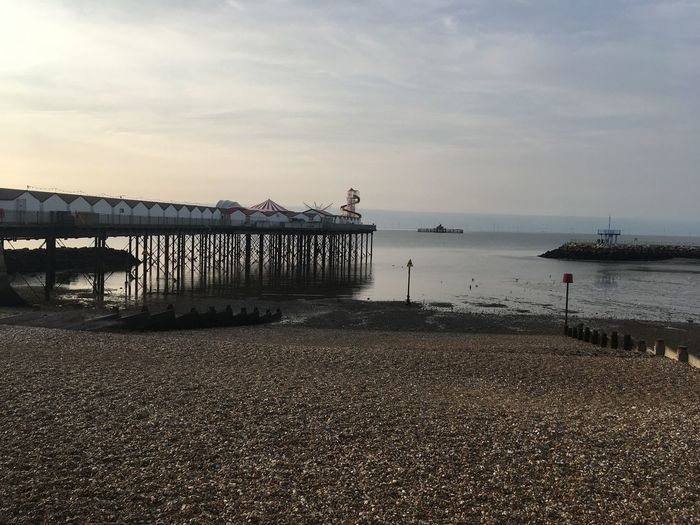 Herne Bay Pier Seaside England 🇬🇧 Pier Kent Sky Water Sea Beach Cloud - Sky Land Nature Incidental People Day Pier Beauty In Nature Scenics - Nature Tranquility Outdoors Architecture Built Structure Tranquil Scene Real People