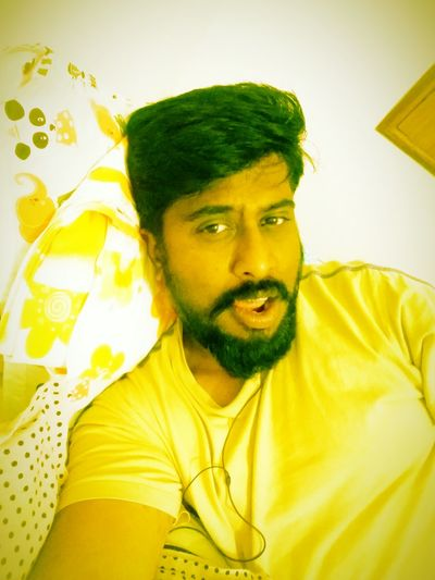 Love my self! Looking At Camera Indoors  Leisure Activity Front View Casual Clothing Yellow Yellow Color Beardstyle Beardman Beardporn Bengaluru Makingfaces Bangalore India Checkthisout Lovepictures OpenEdit Beardlovers Beardlife Bangalore Beardlove Young Men Things I Like Young Adult Funny Faces