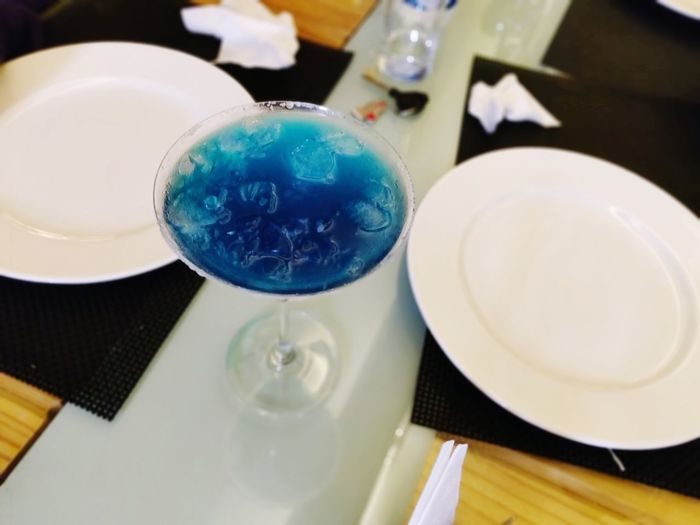 Skyblue Skyblue Mocktail Love Recipes Oneplus6shot Table Close-up