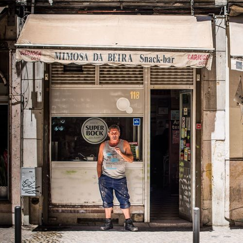 Your Ticket To Europe Lisbon Streetphotography One Person Store Portrait 2017