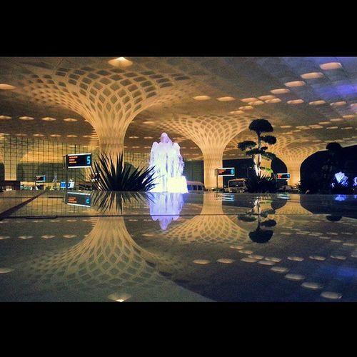 Worth the wait.. Terminal2 Airport Mumbai India Reflection Night Lights Ambience Amazing Infrastructure Beautiful Indian Heritage ye hai Bombay meri jaan... Squareinstapic @studio8apps @worldbestgram Samsung Galaxy Note2