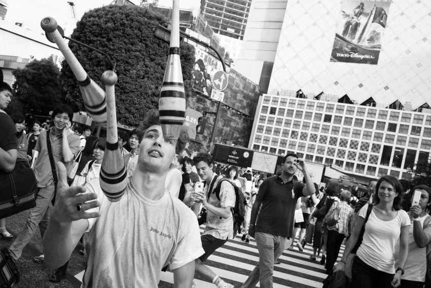 Performer-Shibuya, Tokyo, Japan, 2017 Blackandwhite Streetphotography The Street Photographer - 2018 EyeEm Awards