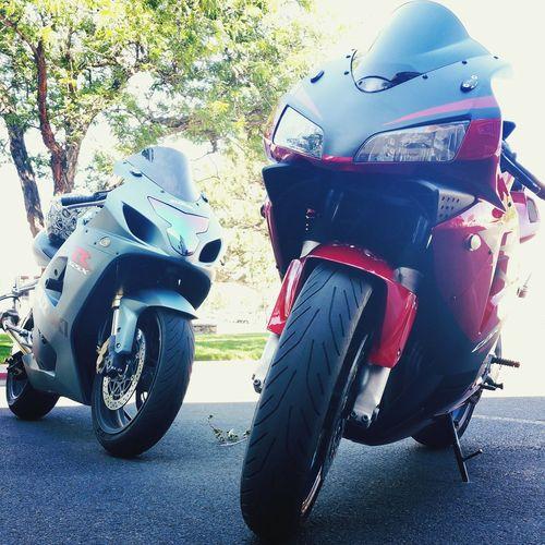 Streetbike Street Riding Motorcycle Lifestyles Honda CBR 600RR Suzuki GSX-R 600  Icon Helmet Streetlife RideRed