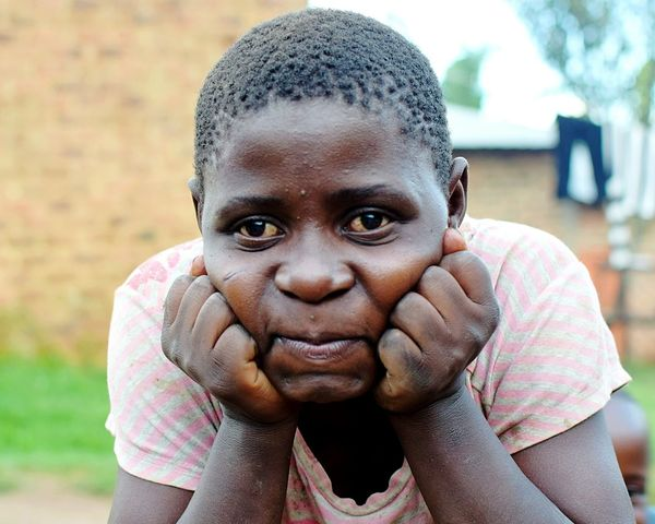 Kyamuhunga Uganda Girl Portrait Looking At Camera Human Face Army Cultures Shaved Head Close-up Humanitarian Aid Altruism Social Responsibility This Is My Skin