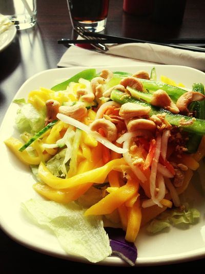 Papaya salad as an appetizer!