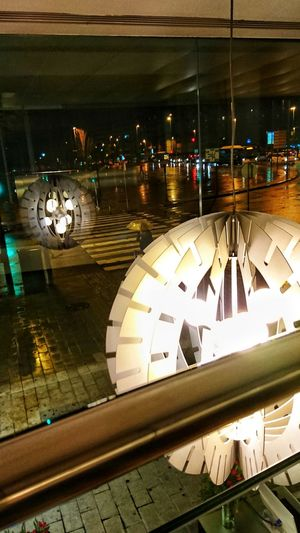 Rain #umbrella Nightphotography Night Clock Face Clock Architecture Travel