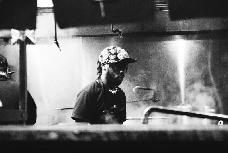 Working Man Chef Cooking The Human Condition Eye4photography  Capture The Moment People Photography Street Poetry City Life Streetphotography Street Photography Streetphoto_bw ExpressYourself Black And White Monochrome