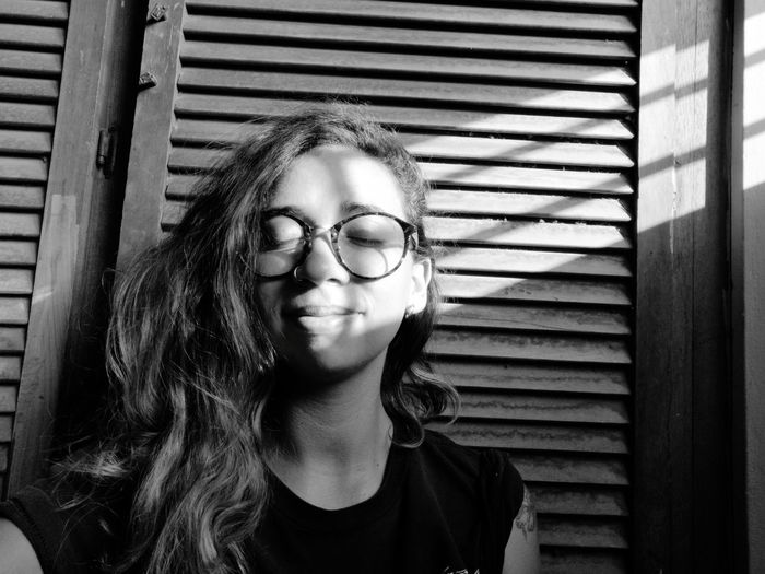 Release Blackandwhite Black And White EyeEm Selects Huaweip20pro Panama City Panamá Self Portrait Young Women Women Portrait Eyeglasses  Front View Beautiful Woman Human Face Headshot Close-up Tangled Hair Body Adornment One Teenage Girl Only Hair Toss Nose Ring Tousled Hair Hairy  Frizzy