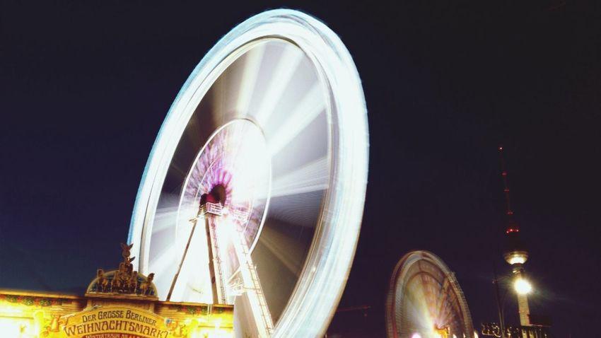 Slow Shutter Weihnachtsmarkt Riesenrad