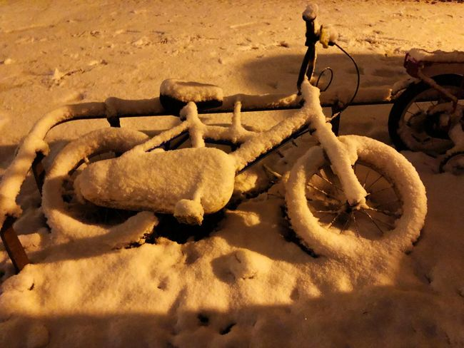 Bike Winter In The City Snow Winter EyeEm Selects No People Outdoors