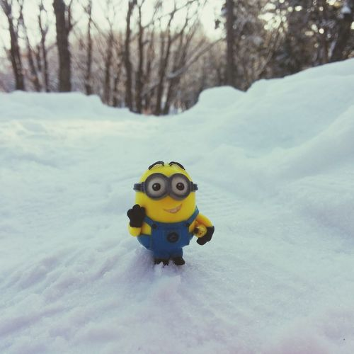 Dave's Adventures Snow Day Minions Happy New Year