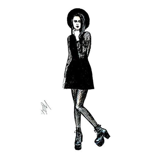 Quicksketch Fashionillustration Drawing Fashion Dark Illustration