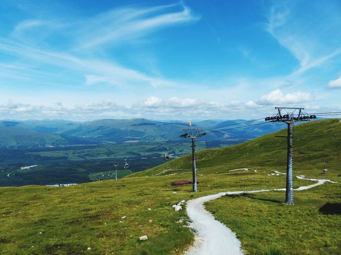 Aonach Mor. Scotland EyeEmNewHere Aonach Mor Sky Cloud - Sky Plant Scenics - Nature Transportation Nature Beauty In Nature Tranquility Environment Landscape Mountain