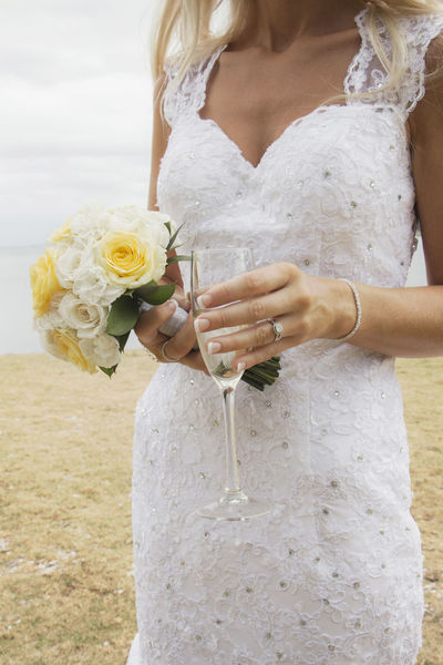 Adult Beach Bouquet Bride Close-up Day Only Women Outdoors People Real People Water Wedding Wedding Day Wedding Dress Wine Moments