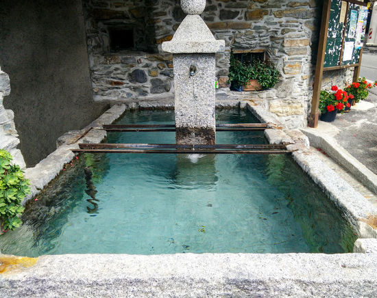 Water Fountain No People Built Structure Architecture Blue Water Old Buildings Storic Building Storical Place Val Camonica Daylight