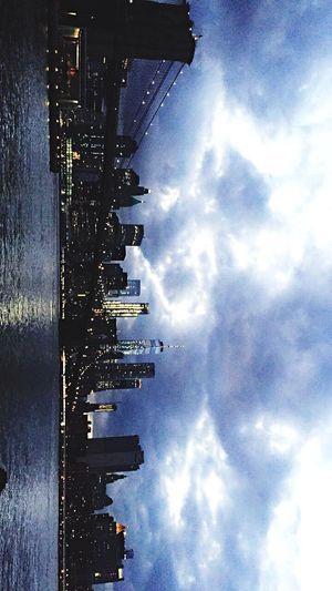 DUMBO, Brooklyn NYC Skyline Brooklyn Bridge / New York Manhattan Bridge Lighting Nightphotography #amazing View The Street Photographer - 2017 EyeEm Awards EyeEmNewHere EyeEmNewHere Mix Yourself A Good Time