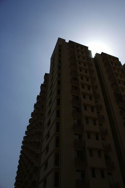 Apartment Buildings Afternoon Mypointofview Apartment Building Photography Check This Out New Building  Time Pass  Hanging Out India No People Blue Sky Silhouette Residential Building Residential Structure My Shot  Clicking Photos Get Outdoors Look Up The Sky