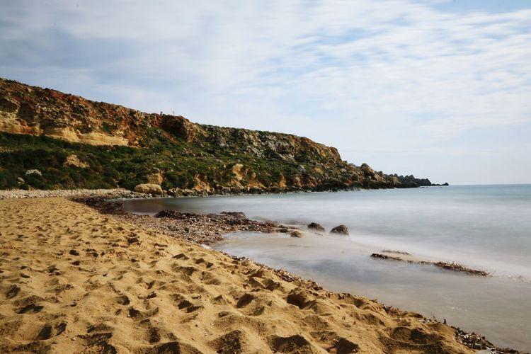 Golden Bay - Malta Malta Mittelmeer Mediterranean Sea Golden Bay Beach Strand