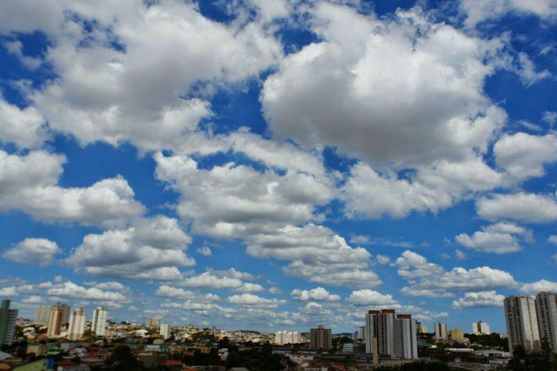 É pra isso que eu vivo! ❤☁🌞 City Cloud - Sky Cityscape Urban Skyline Sky City Life Blue Day Outdoors Sun Day ☀ Sao Paulo - Brazil City SP Beauty In Nature São Bernardo Do Campo Sp Brasil Cityscape Palm Tree