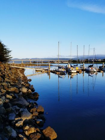 Harbor Bay Ocean Fishing Boat Bridge Boats⛵️ Fisherman Eureka Ca Out For The Day Time Rest Big Day