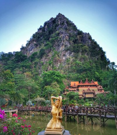 Bangkok Thailand. Outdoors Outdoor Photography Temple - Building Mountain Green Nature People