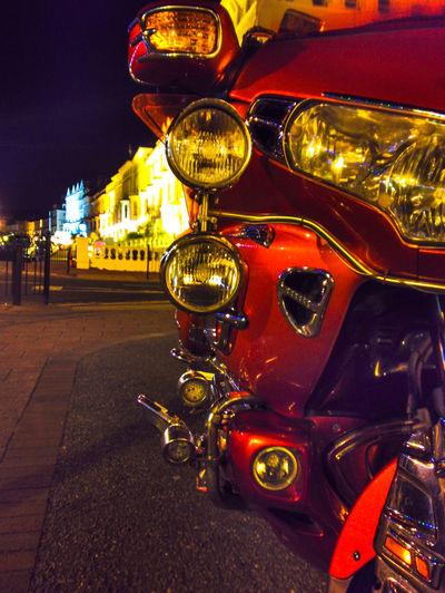 Goldwing Honda Goldwing Lights Nightphotography The Week On EyeEm Building Exterior City Close-up Honda Motorcycle Illuminated Land Vehicle Mode Of Transport Motocycle Night No People Outdoors Sky Street Transportation