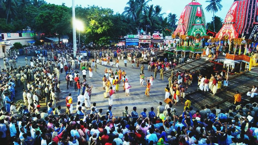 Large Group Of People Real People Crowd High Angle View Men Mixed Age Range Outdoors Leisure Activity Arts Culture And Entertainment Togetherness Building Exterior Adults Only Women Tree Adult Lifestyles Day Travel Destinations Lord Jagannath