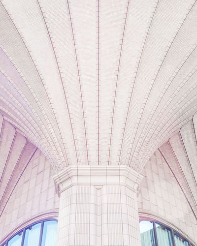 Colour Your Horizn Pastel Power Urban Geometry Architecture Built Structure Day Low Angle View Modern No People Pastel Pastel Colors Symmetrical Symmetry Symmetryporn Urban The Architect - 2018 EyeEm Awards