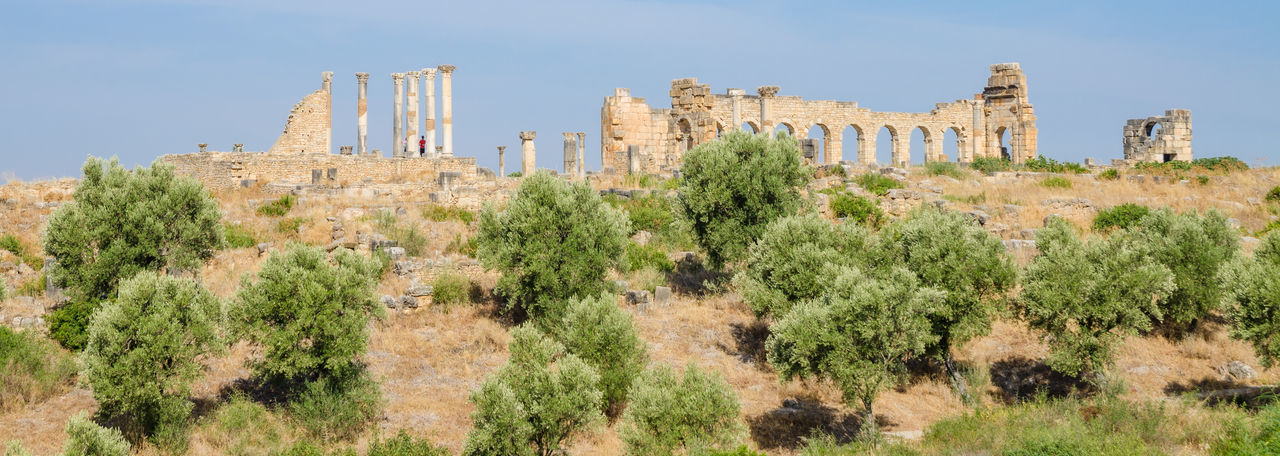 Roman ruins of volubilis in morocco, north africa