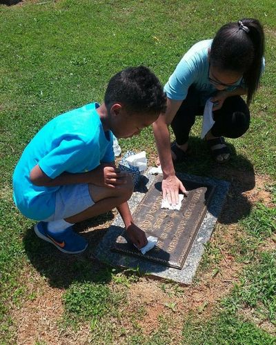 Father's Grave ~ When Memories are all you have... Siblings❤️ Crouching Grave Army Grave Marker Military Looking Down Day NoEditNoFilter teamwork