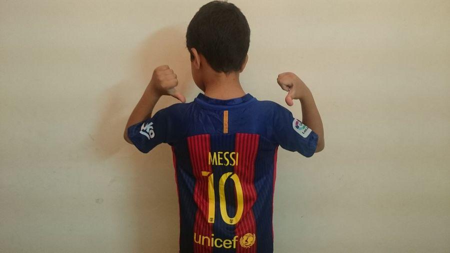 Barcelona Kids Messi Tshirt Hand First Eyeem Photo
