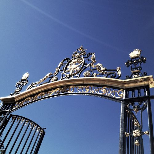 Low angle view of gate