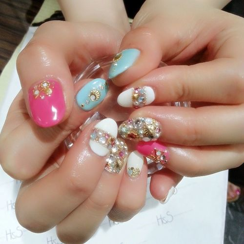 Newネイル♡ 夏ネイル 可愛い ₊h &S