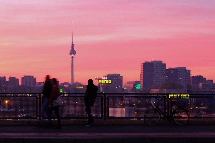 Berlin Fernsehturm Urbanphotography City Architecture Landscape Uraban Mood Urban Landscape Here Belongs To Me Cities At Night Original Experiences Neon Life