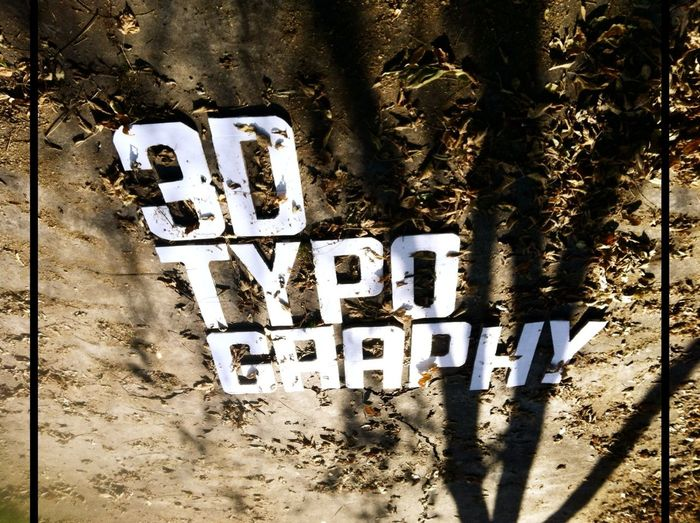 3D Typography Design Contrast Project