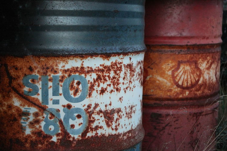 Barrels Close-up Day Metal Metal Barrel No People Oil Barrels Outdoors Rusty Weathered Sweden Swedish Nature österlen
